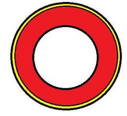 Vorlage Teller #4 - Teller, rund, Spielvorlage, blanko, rot