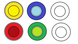 Vorlage Teller #2 - Teller, Vorlage, Spielvorlage, farbig