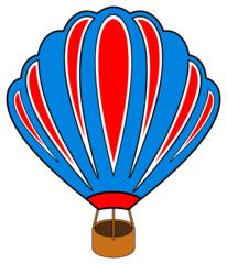 Heißluftballon - Heißluftballon, fahren, schweben, Korb, Gas, Auftrieb, Wärmeströmung, Wärmelehre, Luft, Luftfahrzeug, Physik, Transport, Thermik, Clipart