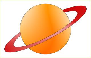Planet mit Ring - Planet, Ring, Himmelskörper, Himmel, Weltall, Weltraum, Universum, Astronomie, Kugel