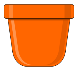 Blumentopf - Blumentopf, Topf, bepflanzen, anpflanzen, pflanzen, Illustration, Behälter, Pflanzgefäß