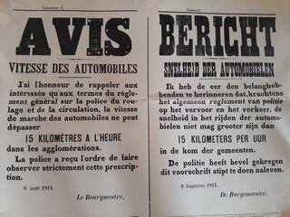 Altes Plakat - Plakat, Verkehrsregel, Geschwindigkeit, Auto, Automobil, Geschichte