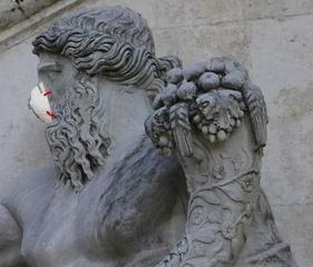 MNS  schon im alten Rom - Mns, Mund, Nase, Schutz, Rom, Statue