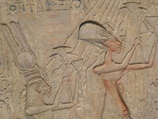 Echnaton und Nofretete - Echnaton, Nofretete, Relief, Aton, Kairo, Ketzerkönig, monotheistische Religion, Pharao, Altägyptischer König, Königin