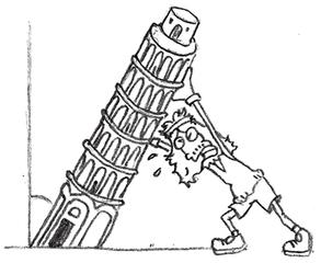 Illustration Neigungswinkel - Pisa, Turm, schief, Winkel, Neigungswinkel, Geometrie, Trigonometrie, Dreiecke, Schwerkraft, Standfestigkeit, Schwerpunkt, Physik, Mathematik