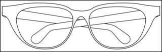 Brille - Brille, Sonnenbrille, Sonnenschutz, Sehhilfe, Illustration, Umriss, Umrisszeichnung, Brillengestell, sehen, blind, Anlaut B, Optik, Physik, Linse, Brechung, Brillengestell, Brillenbügel