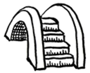 Brücke 2 - Brücke, Brückenbau, Brücken, bauen, Übergang, Schulübergang, Wechsel, Schulwechsel, Hände reichen, Mut, Erzählanlass, Märchen, Bach, Fluss