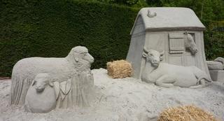 Skulptur aus Sand #11 - Skulptur, Sand, Sandskulptur, Kunst, Kunstwerk, Bildhauerei