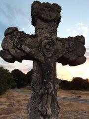 Steinkreuz - Christus, Kreuz, INRI, Skulptur, Symbol, Kruzifix, Religion, Kreuzigung, Christentum, Jesus