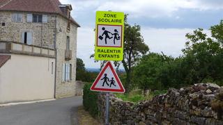 Hinweisschild  Zone scolaire - Ralentir, enfants, zone, scolaire