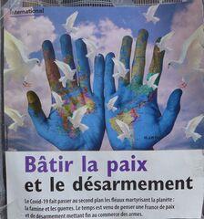 Bâtir la paix et le désarmement - paix, désarmement, armes, action politique