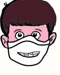 Junge mit Mund-Nase-Maske - Maske, Maskenpflicht, Corona, Virus, MNS, Mund-Nasen-Schutz, Ansteckung, Pandemie, Hygienemaske, Tröpfcheninfektion, Schutzmaske, Alltagsmaske, Mund—Nasen—Bedeckung, Behelfsmaske, Gesichtsmaske, Junge