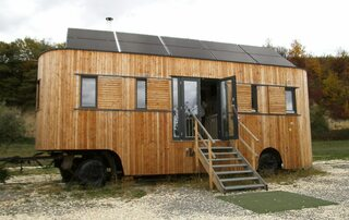 Tiny Haus - Tiny Haus, winziges Haus, kleines Gebäude, Wohneinheit, Kleinsthaus auf Rädern, Bauform, Minihaus, Kleinhaus