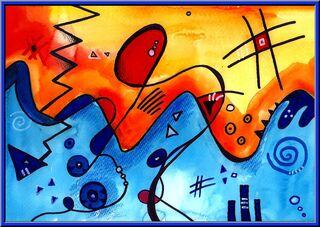 Malen wie Kandinsky - Deckmalfarben, Filzstifte, Kandinsky, geometrische Formen, Auswahl, Ideensammlung