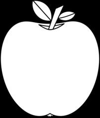 Apfel - Apfel, Obst, Frucht, Kernobstgewächs, Rosengewächs, Umriss, Anlaut A, Wörter mit pf, Illustration