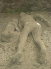 Pompeji - Opfer - Abguss, Abdruck, Gipsabdruck, Vulkanausbruch, Ascheregen, Antike, Italien, Pompeji, alt, Vesuv, Römer, Menschen, Abdrücke