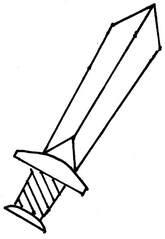 Schwert - Schwert, Laute, Anlaut sch, Zeichnung, Hiebwaffe, Stichwaffe, Klinge, Waffe