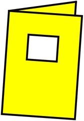 Heft gelb - Heft, Schulheft, Schule, Schulmaterialien, schreiben, Anlaut H