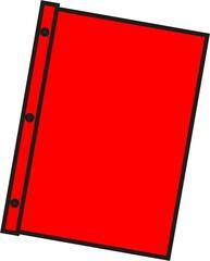 Schnellhefter rot - Mappe, Hefter, einheften, ordnen, Papier, Blatt, sammeln, Anlaut M, Anlaut Sch
