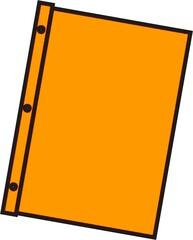 Schnellhefter orange - Mappe, Hefter, einheften, ordnen, Papier, Blatt, sammeln, Anlaut M, Anlaut Sch