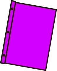 Schnellhefter pink - Mappe, Hefter, einheften, ordnen, Papier, Blatt, sammeln, Anlaut M, Anlaut Sch