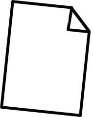Papier schräg - Blatt, Arbeitsblatt, falten, unliniert, weiß, schreiben, Anlaut P