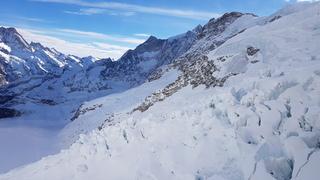 Gletscher Detail - Gletscher, Alpen, Schweiz