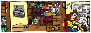 Homeoffice - Arbeitszimmer, homeoffice, Computer, Distanzlernen, Distanzunterricht, Unterricht, Lernplattform, Arbeitsplatz, homeschooling, Lehrer
