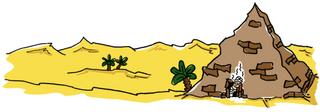 Pyramide mit Mumie - Pyramide, Mumie, Ägypten, Pharao, Fluch, Labyrinth, mystisch, Geheimnis, geheimnisvoll, Erzählanlass, Geschichte, Wüste, Sahara, Antike, Sand, Palme, Palmen, Dünen, Düne