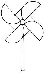 Windrad - Lautanalyse Ww, zusammengesetzte Namenwörter, Wetter, HuS Was Wind alles kann, Spielzeug, Luft, Wind, Antrieb, Windkraft
