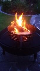 Feuerkorb - Feuerkorb, Feuer, lodern, Wärmequelle, Brennmaterial, Feuerschale