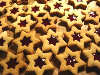 Weihnachtsgebäck - Weihnachtsgebäck, Plätzchen, Weihnachten, Advent, backen, Teig, Sterne