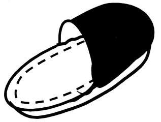 Pantoffel - Pantoffel, Anlaut P, Filz, Kleidung, Schlappen, Latschen, Puschen, Hausschuh, Einzahl