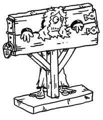 Pranger - Mittelalter, Strafe, Buße, Verurteilung, Pranger, Sprichwort, Inquisition, Verachtung, Schandpfahl, Strafwerkzeug, öffentlich, Platz, Ehrenstrafe, gerichtsbarkeit, mittelalterlich, Schande, Kaak