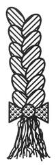Zopf - Zopf, Anlaut Z, Frisur, flechten, Haarstrang, Schleife, Wörter mit pf, Haare