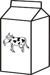 Milch - Milchpackung, Tetrapack, fettarm, Getränk, trinken, weiß, Wörter mit ch