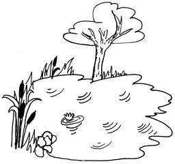 Teich - Teich, Tümpel, Weiher, Anlaut T, Wörter mit ch, Wasser, kleines Gewässer, Wörter mit ei, See, Stillgewässer, Biotop
