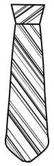 Krawatte - Krawatte, Binder, Schlips, Anlaut K, Kleidung, gemustert, Streifen, Wörter mit Doppelkonsonanten