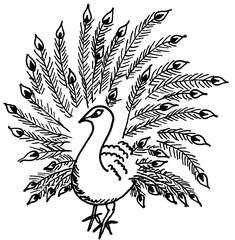 Pfau - Pfau, Vogel, Vögel, Federn, Anlaut Pf, Wörter mit au, Gefieder, Ziervogel