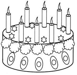 Geburtstagstorte mit acht Kerzen - Geburtstagstorte, Torte, Geburtstag, feiern, Feste, verzieren, Kerzen, acht