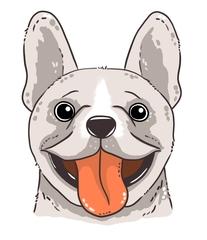 Hund - Hund, Portrait, dog, Säugetier, Haustier, Anlaut H, Illustration, Cartoon
