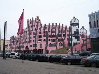 Hundertwasserhaus Magdeburg - Hundertwasserhaus, Hundertwasser, Magdeburg, Grüne Zitadelle