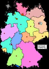 Deutschlandkarte mit Landesgrenzen & Hauptstädten - Hauptstadt, Landeshauptstadt, Deutschland, Bundesland, Land, Deutschland politisch, Deutschlandkarte, Deutschlandkarte politisch, Deutschlandkarte neutral, neutral, beschriftungsfrei, ohne Beschriftung