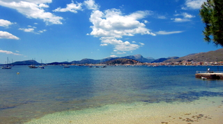 Bucht von Pollenca - Pollenca, Spanien, Balearen, Mallorca, Hafen, Meer, Bucht, Tourismus, Maritim, Mediteran