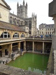 Bath - Bath, Römer, historische Anlage, Südengland, Sehenswürdigkeit, Abteikirche, anglikanische Pfarrkirche, Gotik, Bauwerk