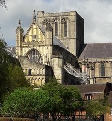 Winchester Cathedral - Winchester, Südengland, Großbritannien, Gebäude, Außenansicht