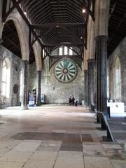Winchester Great Hall, Innenansicht - Burg, Winchester, Großer Saal, Ritter der Tafelrunde, König Artur, Mittelalter, Gebäude, historisch, England