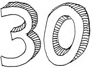 dreißig - dreißig, Wörter mit ß, Zahl, Zehnerzahl, Anlaut D