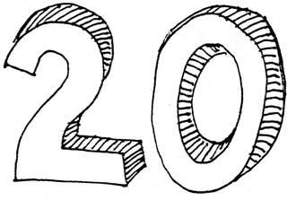 zwanzig - zwanzig, Anlaut Z, Wörter mit z, Zahl, Zehnerzahl