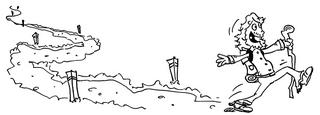 Wandersmann - Wanderer, Wandersmann, wandern, pilgern, Pilgerreise, Pilgerfahrt, Jakobsweg, Wanderweg, Reise, Ziel, Natur, Illustration, Comic, Cartoon, Ausmalbild, Wanderlust, Lebenslust, Freude, Freiheit, Perspektive, Fluchtpunkt
